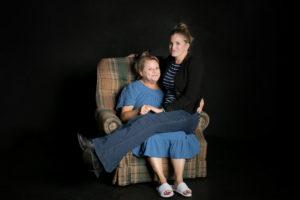 """Samantha Ginn and Annie Hinton in """"Well"""""""