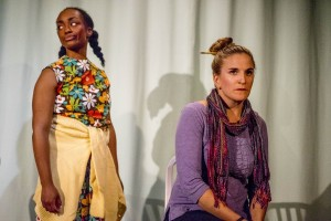Cashae Monya and Samantha Ginn in WELL by Lisa Kron
